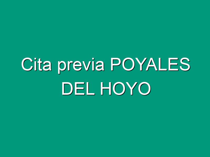Cita previa POYALES DEL HOYO