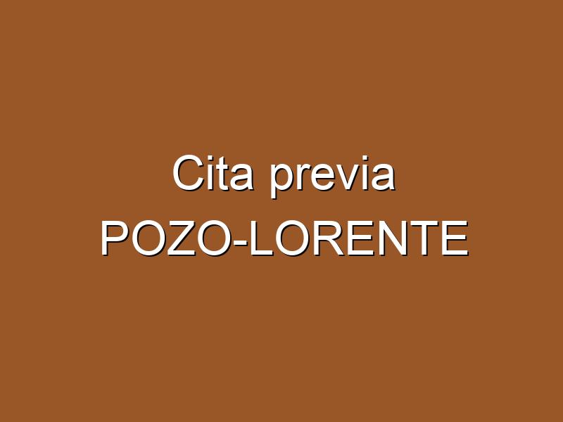 Cita previa POZO-LORENTE