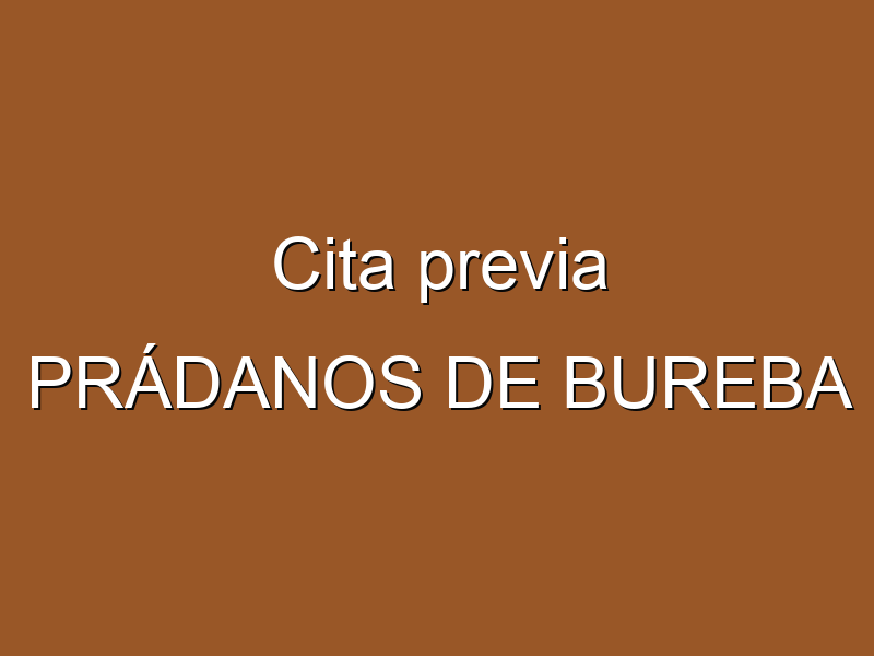 Cita previa PRÁDANOS DE BUREBA