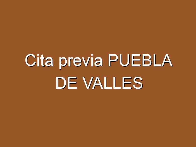 Cita previa PUEBLA DE VALLES