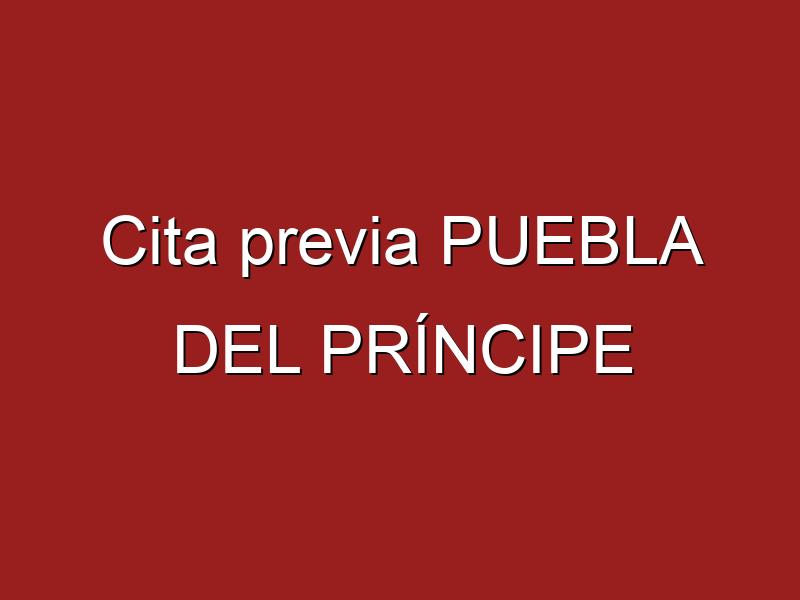 Cita previa PUEBLA DEL PRÍNCIPE