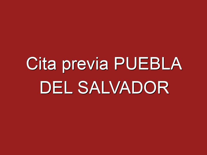Cita previa PUEBLA DEL SALVADOR