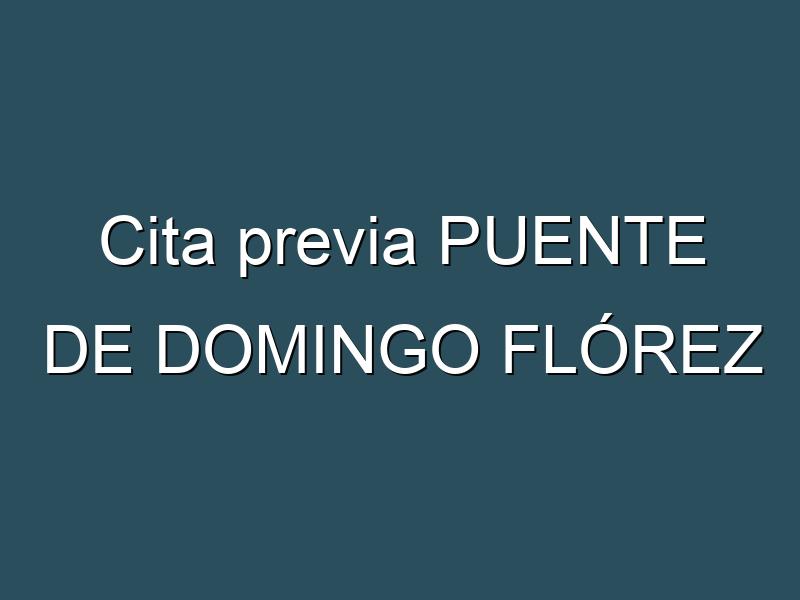 Cita previa PUENTE DE DOMINGO FLÓREZ