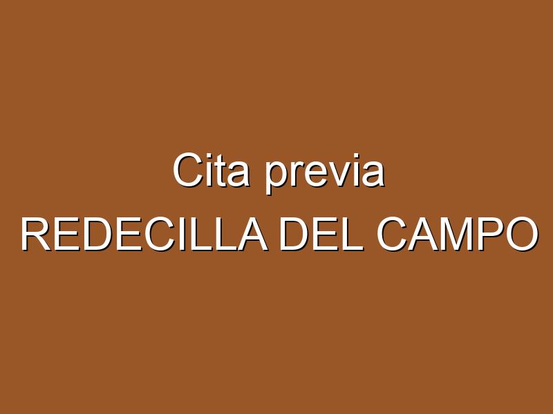 Cita previa REDECILLA DEL CAMPO