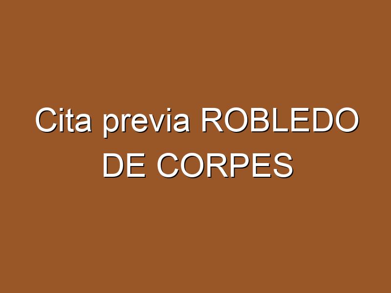 Cita previa ROBLEDO DE CORPES