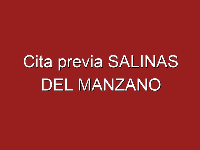 Cita previa SALINAS DEL MANZANO