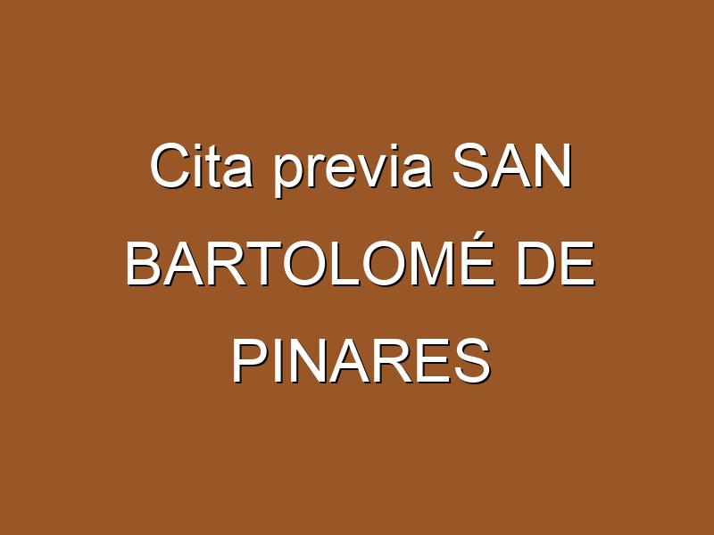 Cita previa SAN BARTOLOMÉ DE PINARES