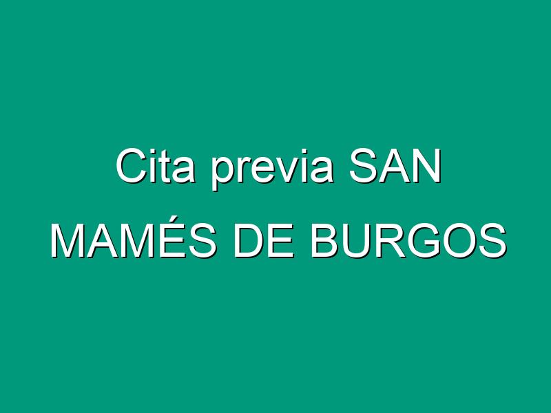Cita previa SAN MAMÉS DE BURGOS