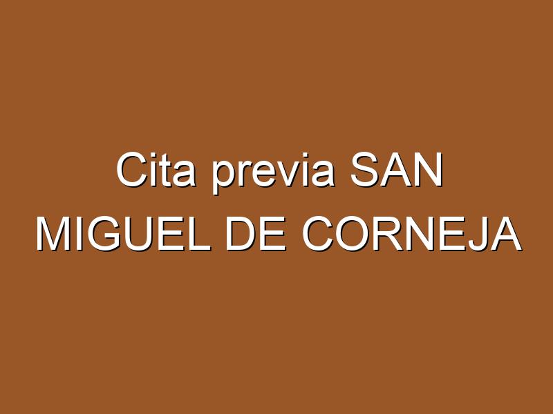 Cita previa SAN MIGUEL DE CORNEJA