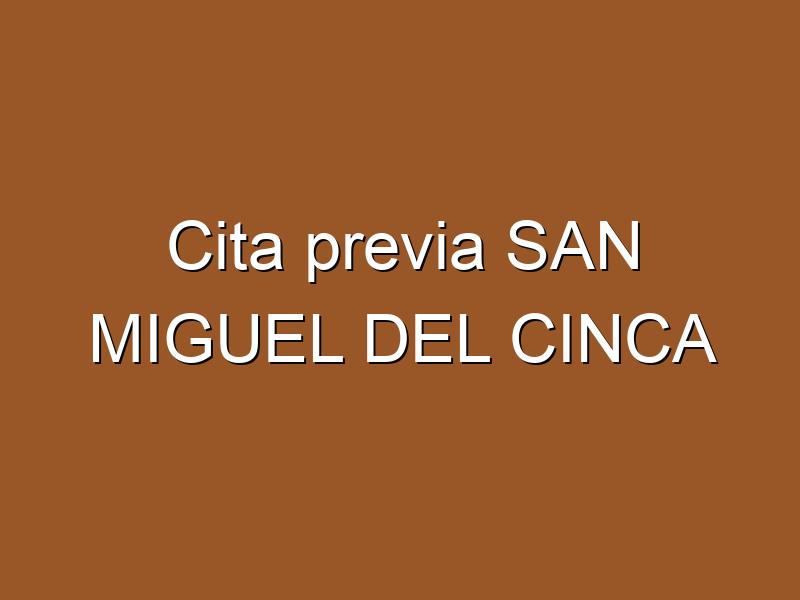 Cita previa SAN MIGUEL DEL CINCA