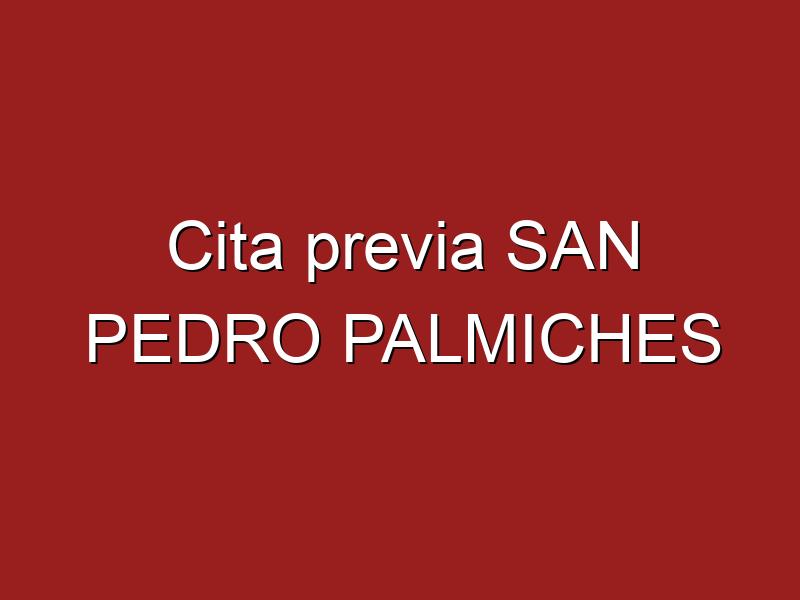Cita previa SAN PEDRO PALMICHES