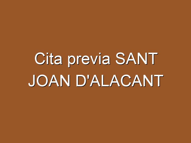 Cita previa SANT JOAN D'ALACANT