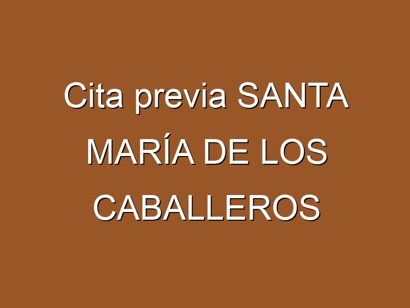 Cita previa SANTA MARÍA DE LOS CABALLEROS