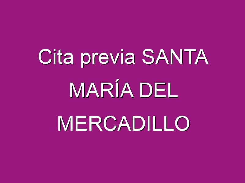 Cita previa SANTA MARÍA DEL MERCADILLO
