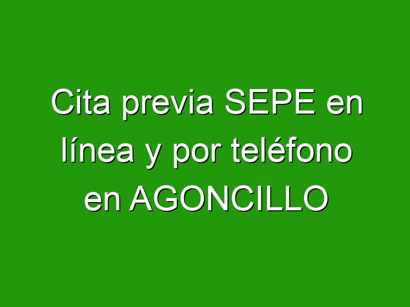 Cita previa SEPE en línea y por teléfono en AGONCILLO