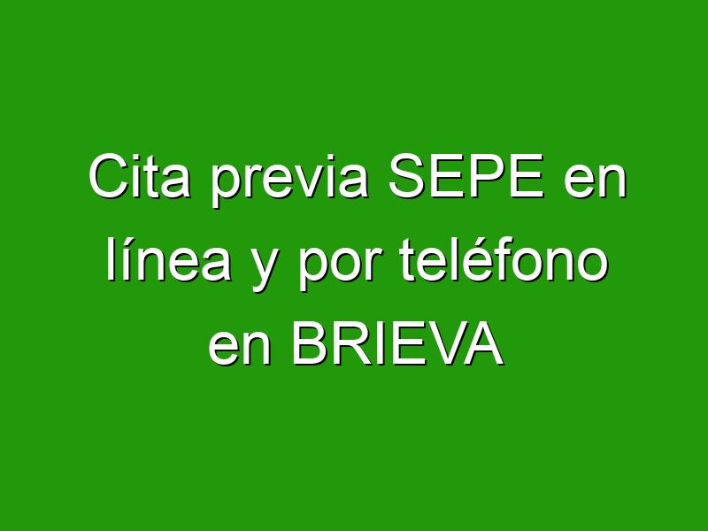 Cita previa SEPE en línea y por teléfono en BRIEVA