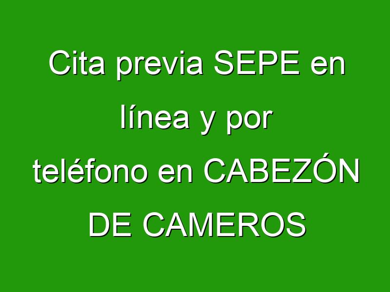 Cita previa SEPE en línea y por teléfono en CABEZÓN DE CAMEROS