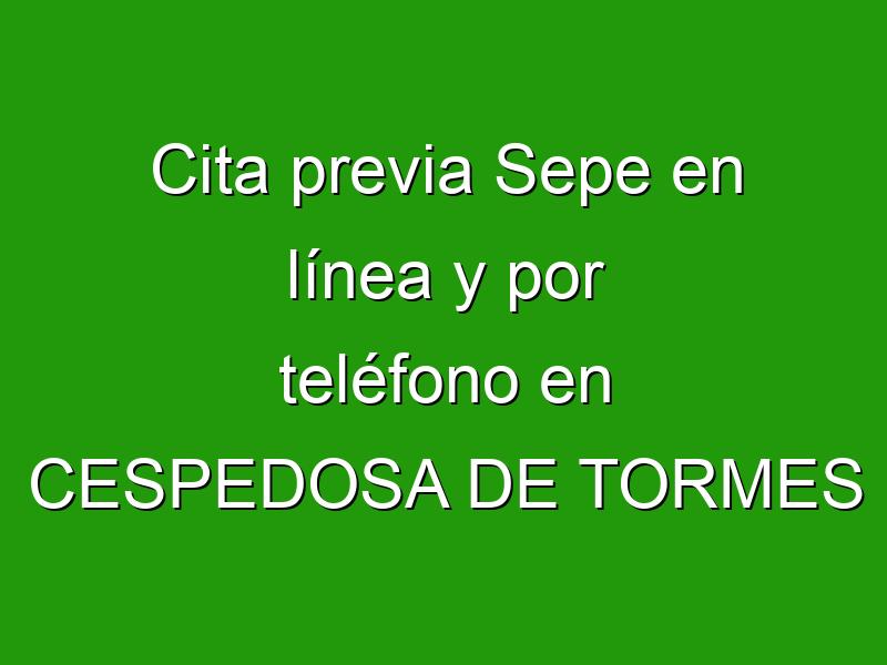 Cita previa Sepe en línea y por teléfono en CESPEDOSA DE TORMES