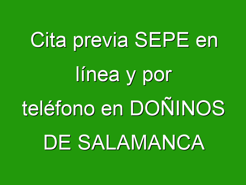 Cita previa SEPE en línea y por teléfono en DOÑINOS DE SALAMANCA