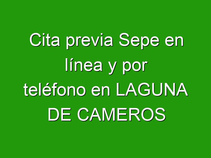 Cita previa Sepe en línea y por teléfono en LAGUNA DE CAMEROS