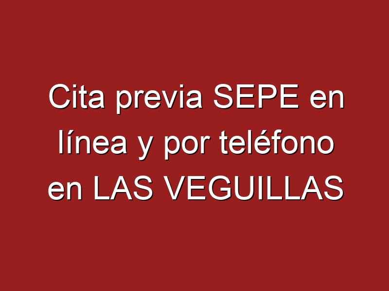 Cita previa SEPE en línea y por teléfono en LAS VEGUILLAS