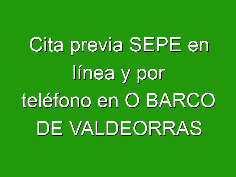 Cita previa SEPE en línea y por teléfono en O BARCO DE VALDEORRAS