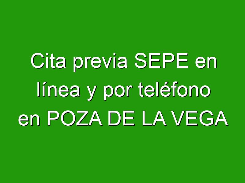 Cita previa SEPE en línea y por teléfono en POZA DE LA VEGA