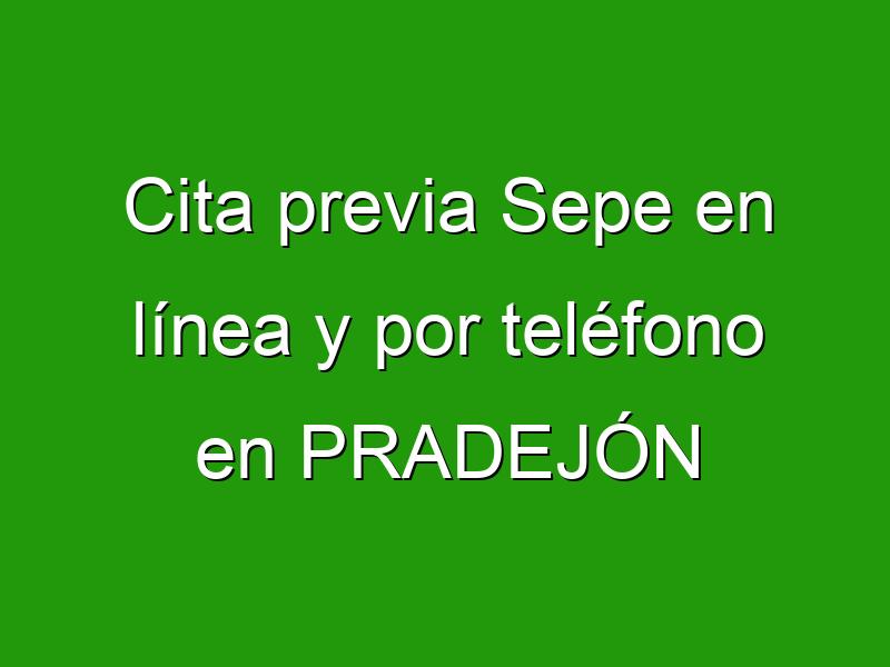 Cita previa Sepe en línea y por teléfono en PRADEJÓN