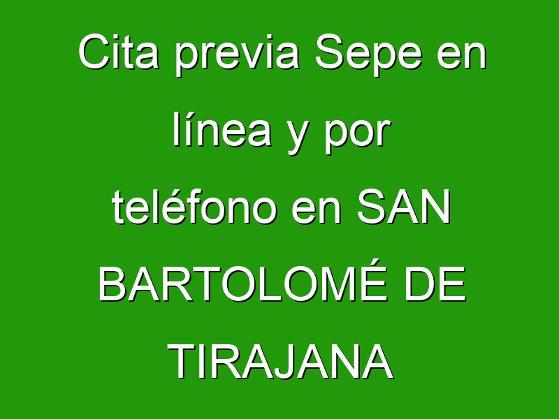 Cita previa Sepe en línea y por teléfono en SAN BARTOLOMÉ DE TIRAJANA