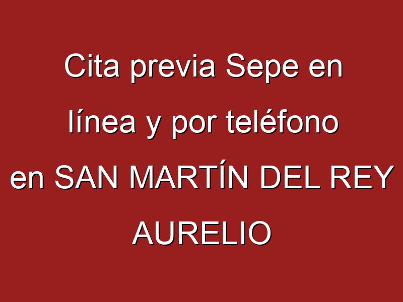 Cita previa Sepe en línea y por teléfono en SAN MARTÍN DEL REY AURELIO