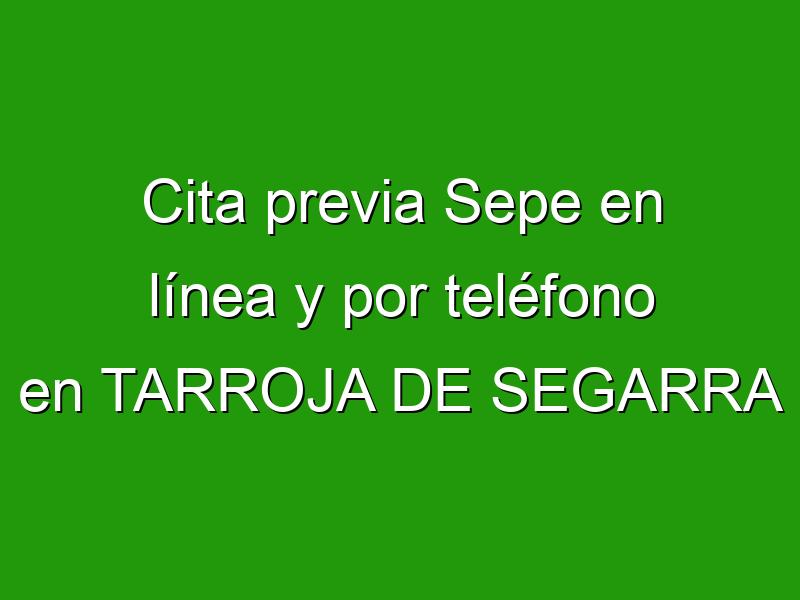 Cita previa Sepe en línea y por teléfono en TARROJA DE SEGARRA