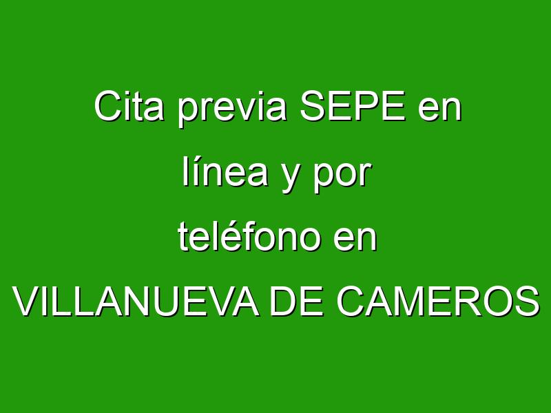Cita previa SEPE en línea y por teléfono en VILLANUEVA DE CAMEROS