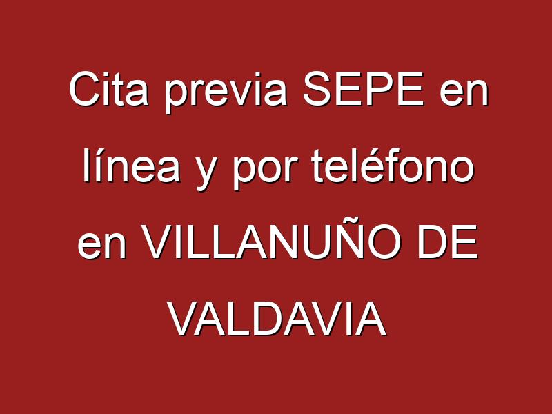Cita previa SEPE en línea y por teléfono en VILLANUÑO DE VALDAVIA