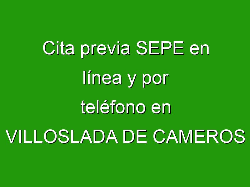 Cita previa SEPE en línea y por teléfono en VILLOSLADA DE CAMEROS