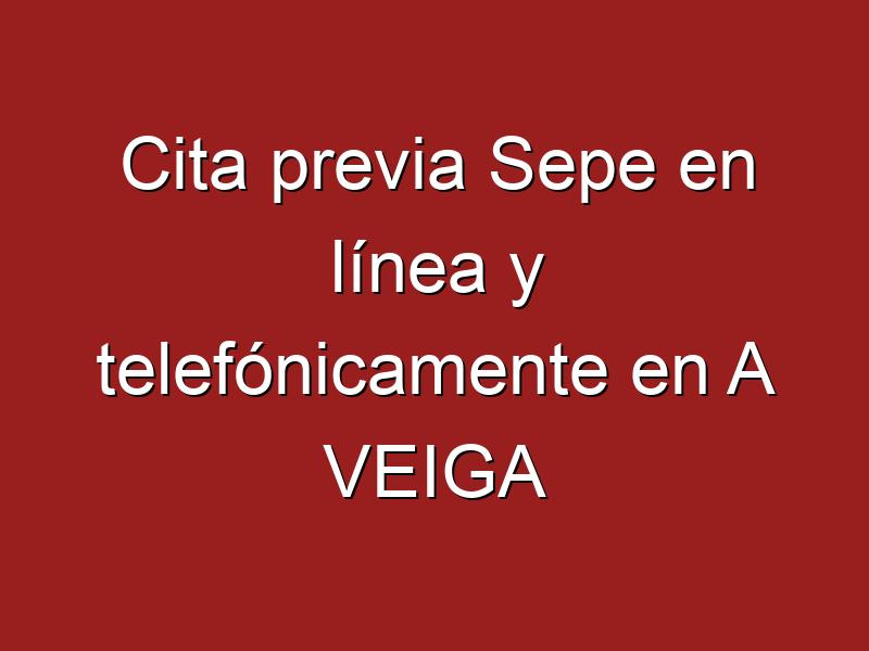 Cita previa Sepe en línea y telefónicamente en A VEIGA