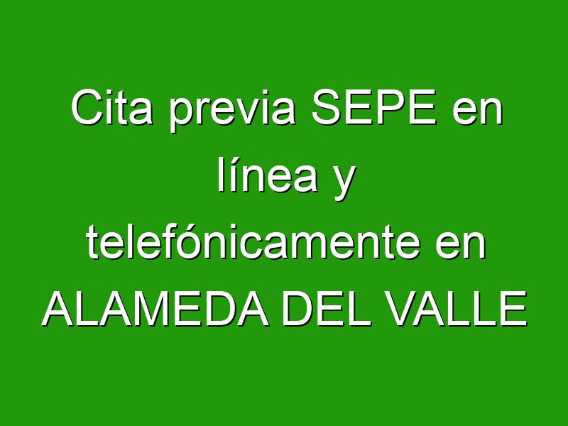 Cita previa SEPE en línea y telefónicamente en ALAMEDA DEL VALLE