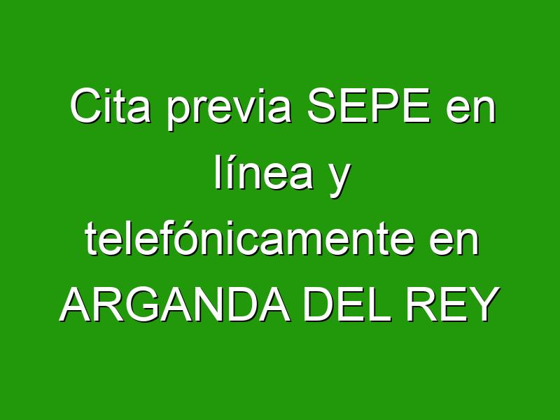 Cita previa SEPE en línea y telefónicamente en ARGANDA DEL REY
