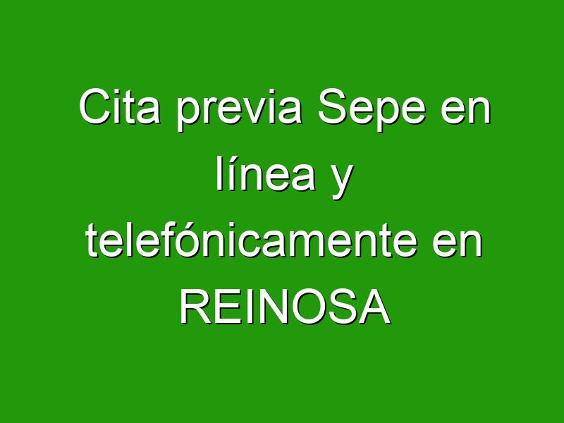 Cita previa Sepe en línea y telefónicamente en REINOSA