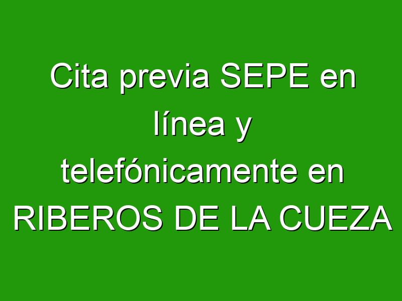 Cita previa SEPE en línea y telefónicamente en RIBEROS DE LA CUEZA