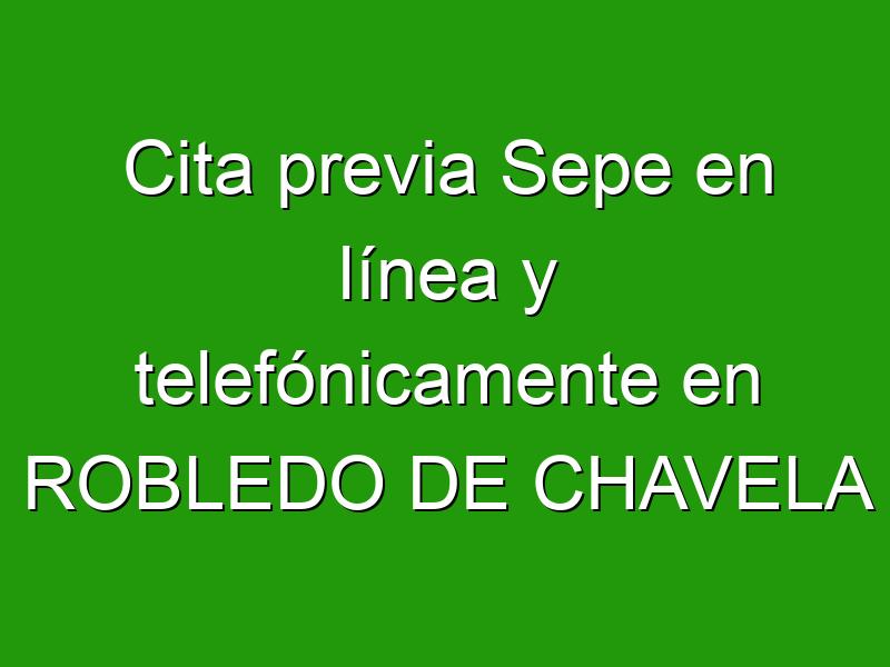 Cita previa Sepe en línea y telefónicamente en ROBLEDO DE CHAVELA