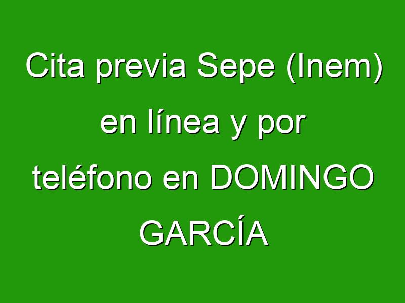 Cita previa Sepe (Inem) en línea y por teléfono en DOMINGO GARCÍA