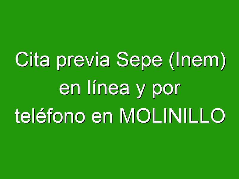 Cita previa Sepe (Inem) en línea y por teléfono en MOLINILLO
