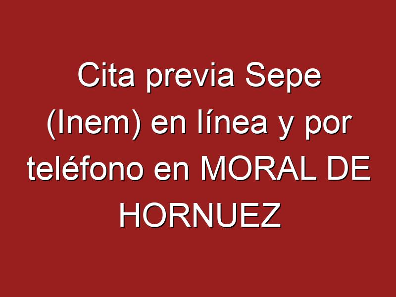 Cita previa Sepe (Inem) en línea y por teléfono en MORAL DE HORNUEZ