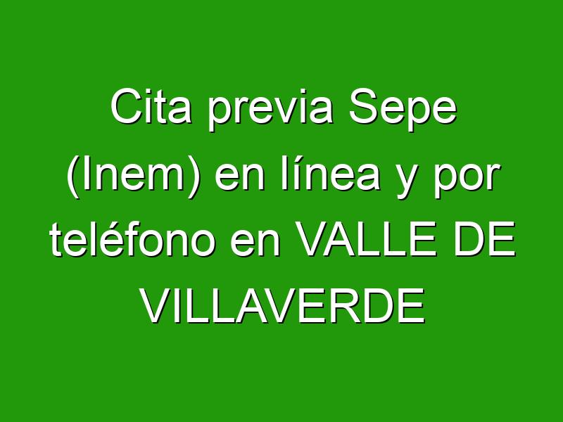 Cita previa Sepe (Inem) en línea y por teléfono en VALLE DE VILLAVERDE