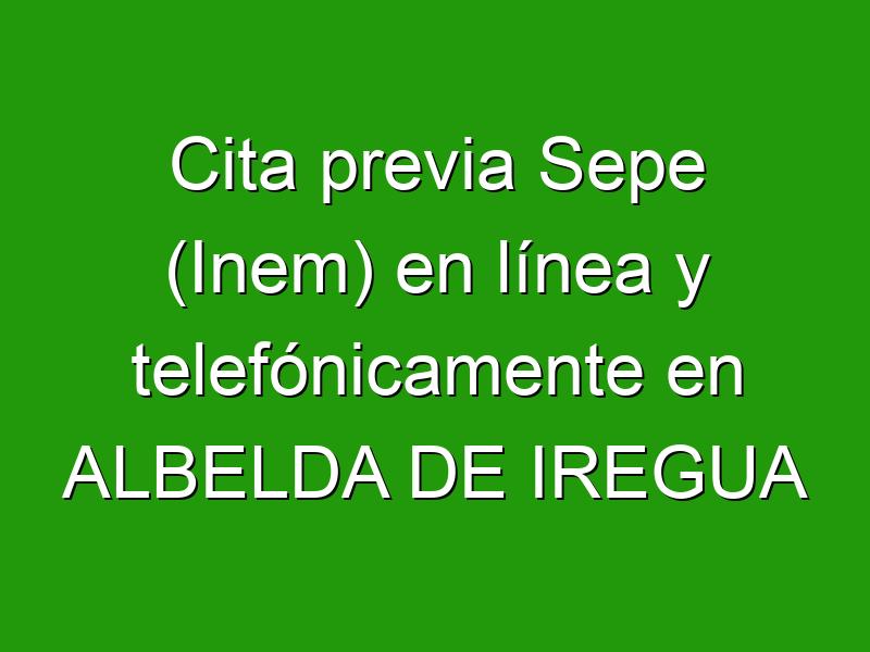 Cita previa Sepe (Inem) en línea y telefónicamente en ALBELDA DE IREGUA