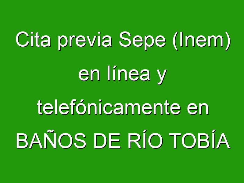 Cita previa Sepe (Inem) en línea y telefónicamente en BAÑOS DE RÍO TOBÍA