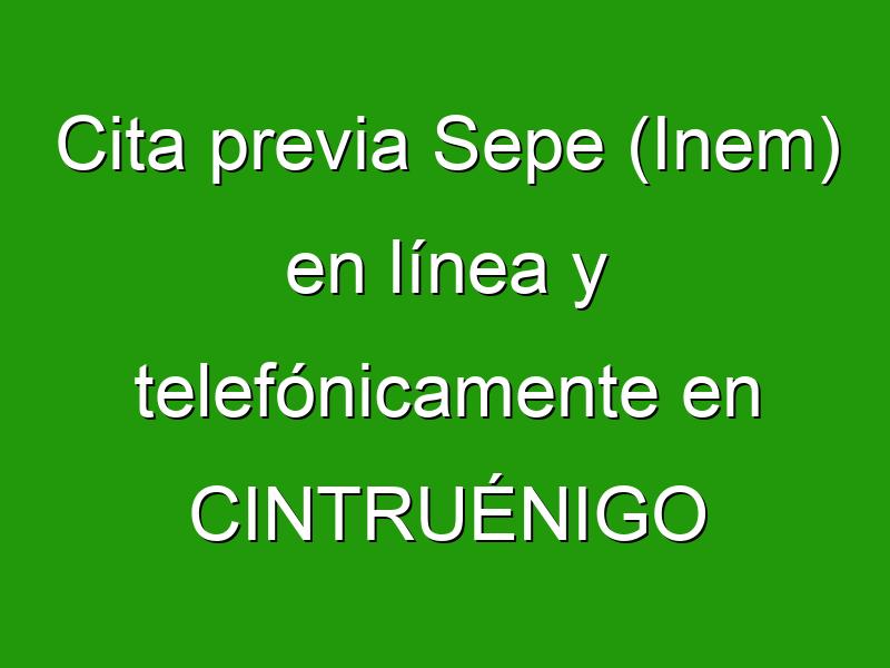 Cita previa Sepe (Inem) en línea y telefónicamente en CINTRUÉNIGO