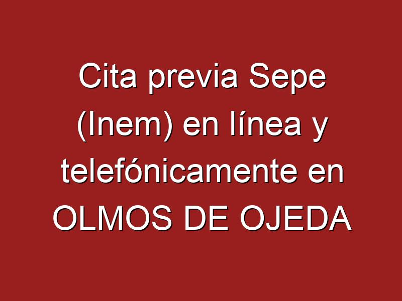Cita previa Sepe (Inem) en línea y telefónicamente en OLMOS DE OJEDA