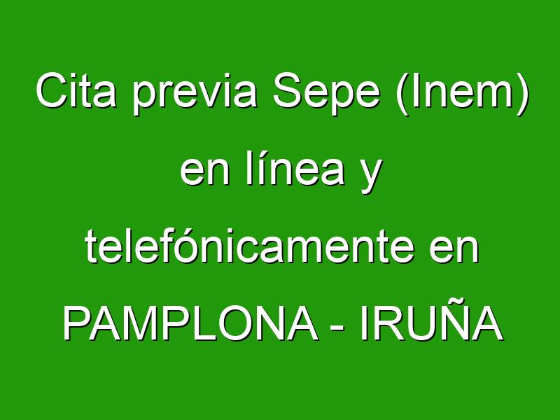 Cita previa Sepe (Inem) en línea y telefónicamente en PAMPLONA - IRUÑA
