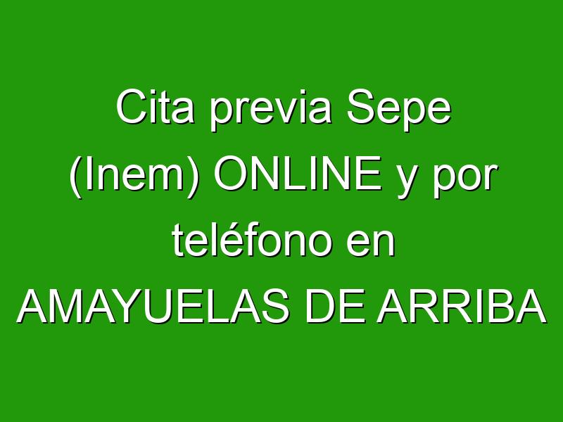 Cita previa Sepe (Inem) ONLINE y por teléfono en AMAYUELAS DE ARRIBA